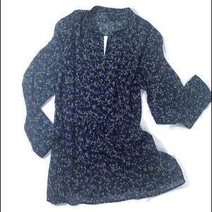 THEORY silk long sleeve blouse NWT
